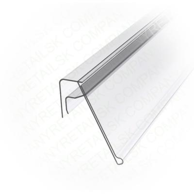 Ценникодержатель для крепления на корзины из металлических прутьев