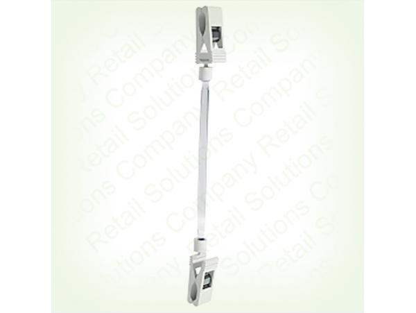 Универсальный ценникодержатель с двумя прищепками FXS-DBL-100мм