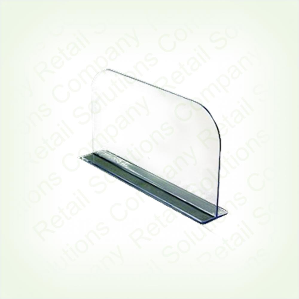 Пластиковый разделитель высотой 150 мм на Т-основании c магнитным скотчем