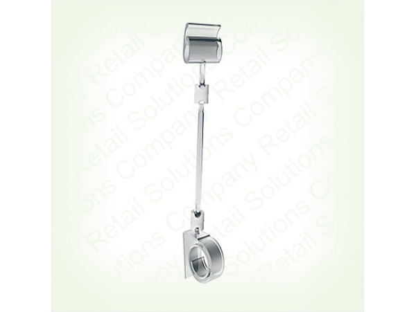 Ценникодержатель-улитка с ножкой 10 см ROLL-CLIP-L-100мм